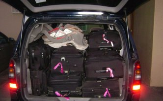 Car full of luggage