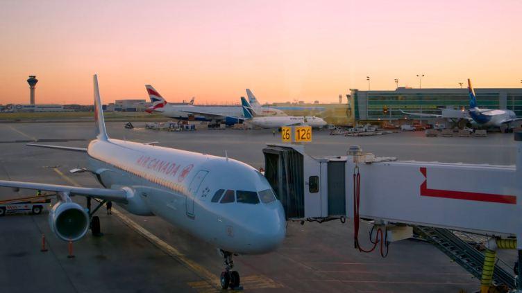 il tramonto a Toronto YYZ