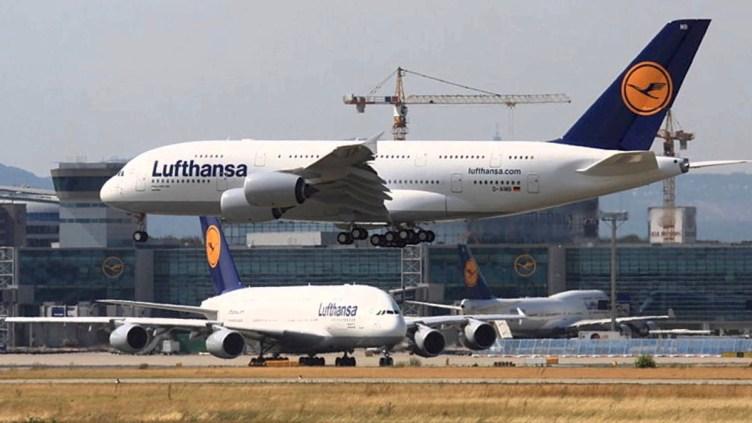 Lufthansa Airbus A380 e Boeing 747 a Francoforte FRA