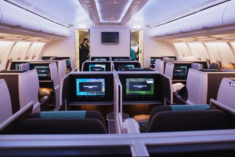 Oman Air business class a bordo di Airbus A330-300 - ©Andrea Tabanelli