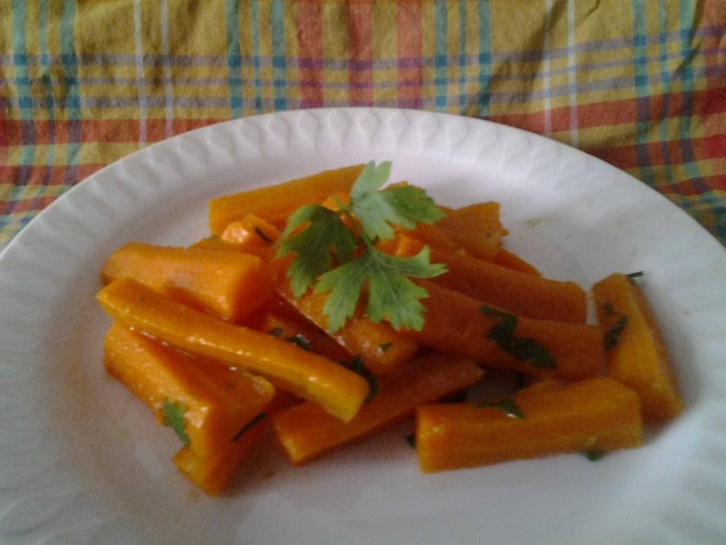 salade de batonnets de carottes au cumin