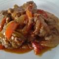 boulettes de viande hachée aux poivrons
