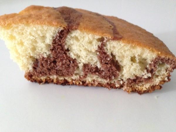 Gâteau marbré sans beurre