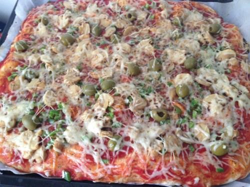pizza champignon poivron: l'assurance du goût!