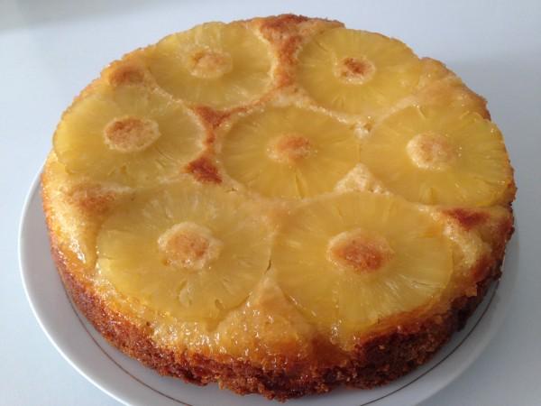 Gâteau ananas caramélisé