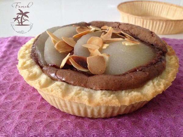 Tartelette Bourdaloue au chocolat