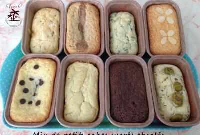 Mix de petits cakes sucrés et salés.
