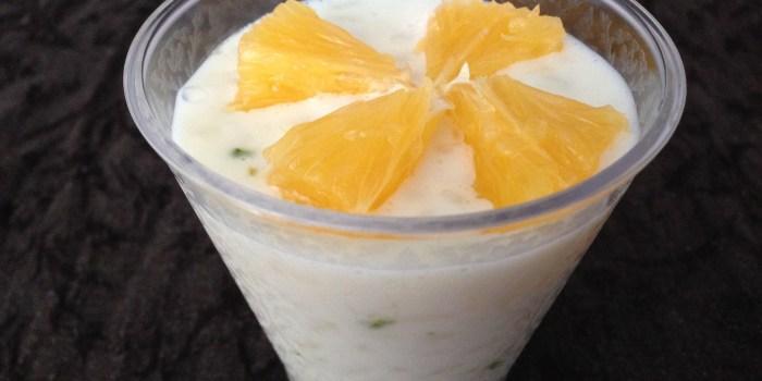 Riz au lait coco agrumes.