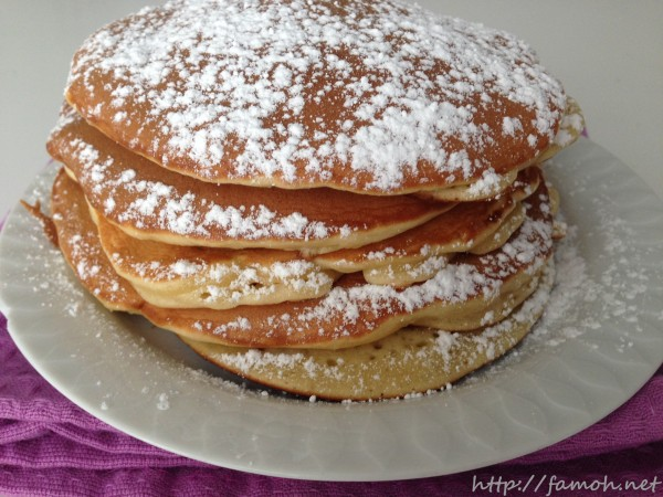 Recette des pancakes.