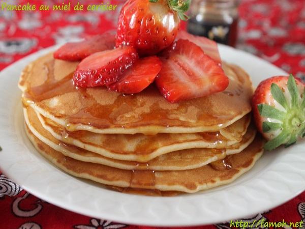 Pancake au miel de cerisier