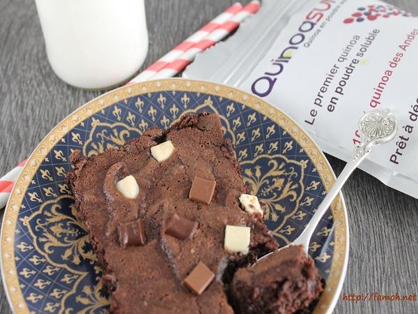 Gâteau au chocolat sans gluten.