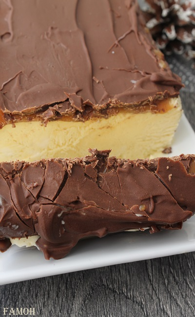 Cake glacé chocolar caramel