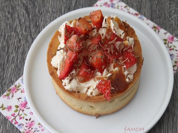 tartelette chantilly fraises