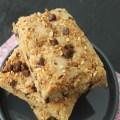 carrés de cookies chocolat pralin