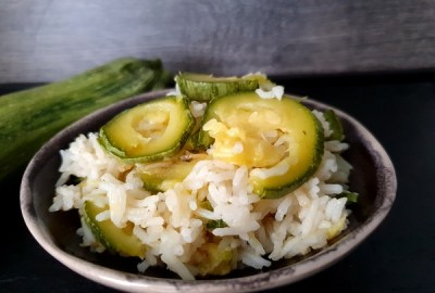 one pot riz courgettes