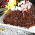 bûche avec ganache chocolat
