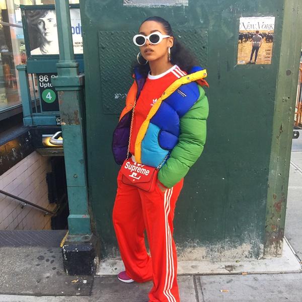 Princess Nokia looking cool in jacket