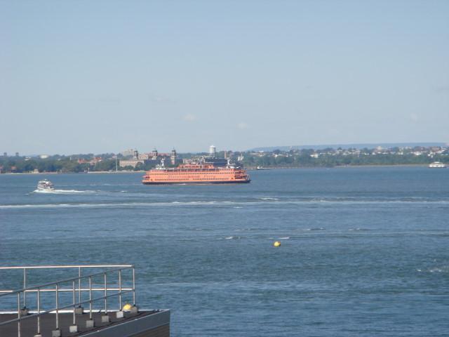 Promenade view 14 - ferry and EllisIsland