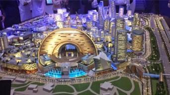 City Model Dubai lights