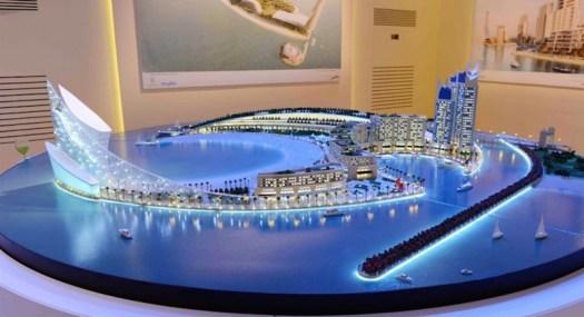 City Model on water Dubai