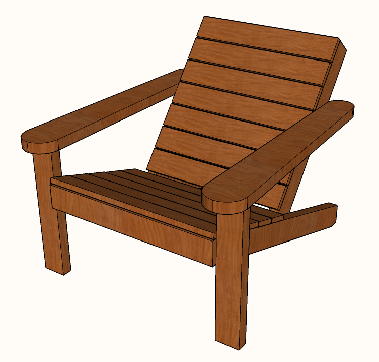 Free Diy Square Adirondack Chair Plans A Modern Design