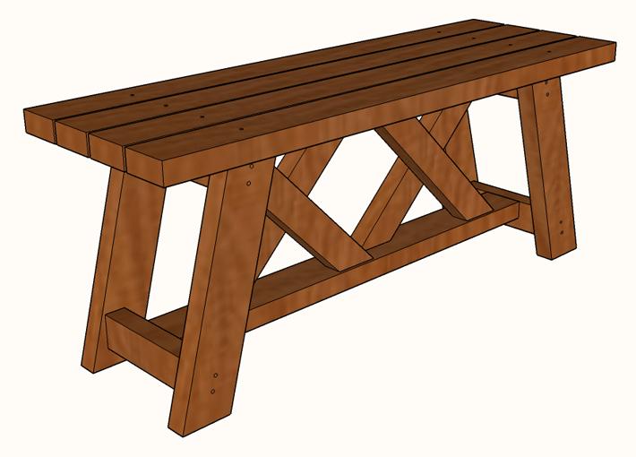Incredible Diy 2X4 Double X Bench Plans Famous Artisan Uwap Interior Chair Design Uwaporg