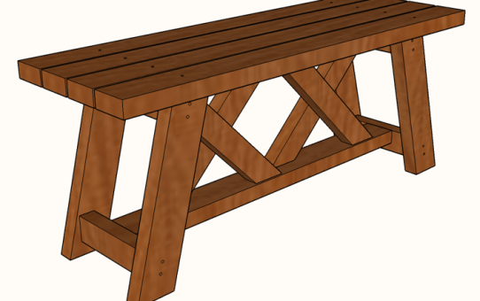 Awesome Diy 2X4 Double X Bench Plans Famous Artisan Download Free Architecture Designs Rallybritishbridgeorg