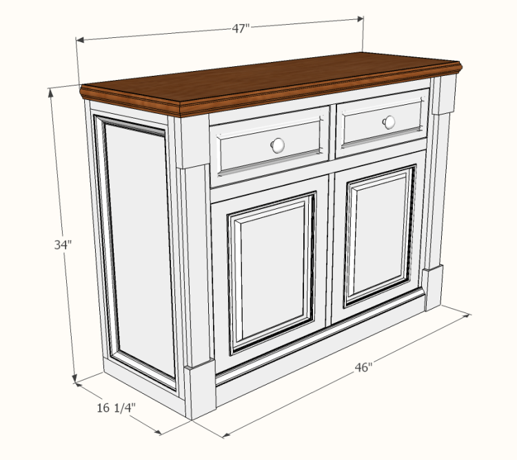 Dining Room Buffet Plans Famous Artisan, What Size Sideboard For Dining Room