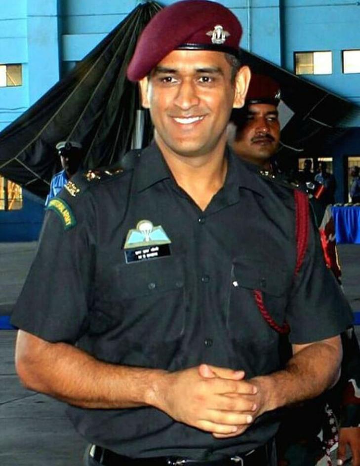 Mahendra Singh Dhoni army officer