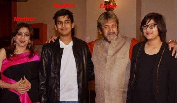 Saiee Manjrekar family photo