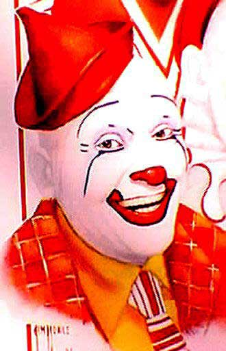 """Glenn """"Frosty"""" Little, inducted into the 1991 Clown Hall of Fame"""