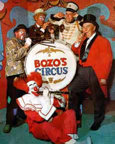 Bob Bell, as Bozo the Clown, in an early photo from Bozos Circus