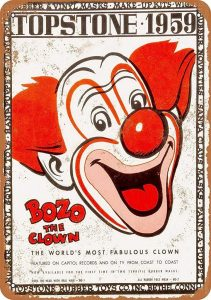Bozo - Funny Retro Metal Tin Sign Plaque Wall Ornament