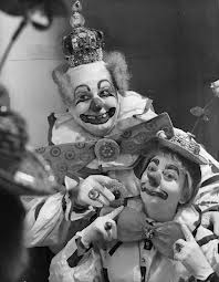 Felix Adler with his wife and clown partner, Amelia
