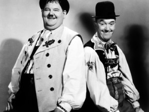 Oliver Hardy and Stan Laurel in Swiss Miss