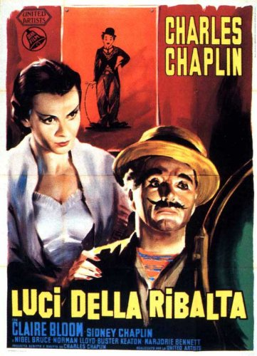 Movie poster from Charlie Chaplin's Limelight, a wonderful talking picture starring Charlie Chaplin and Claire Bloom — a personal favorite.