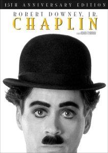 DVD cover - Robert Downey Jr. as Chaplin