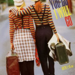 poster of two clown ladies walking down the street - an Art.com poster