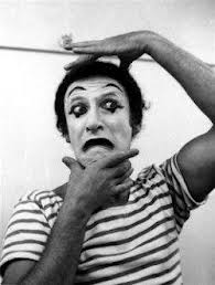 Marcel Marceau miming as Bip