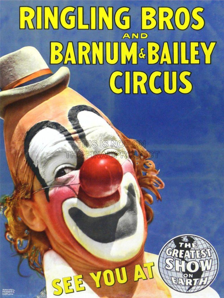 Lou Jacobs circus poster - Barnum and Bailey Circus