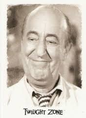 Ed Wynn as Lewis J. Bookman in the Twilight Zone episode, One for the Angels