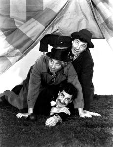 Publicity photo for the Marx Brothers movie, At the Circus - with Groucho, Chico, and Harpo