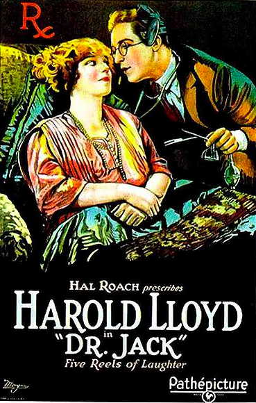 Dr. Jack movie poster, starring Harold Lloyd and Mildred Davis