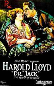 Dr. Jack movie poster, starring Harold Lloyd and Mildred Davis