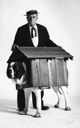 Buster Keaton and dog