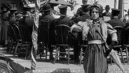 A Busy Day - Charlie Chaplin in drag