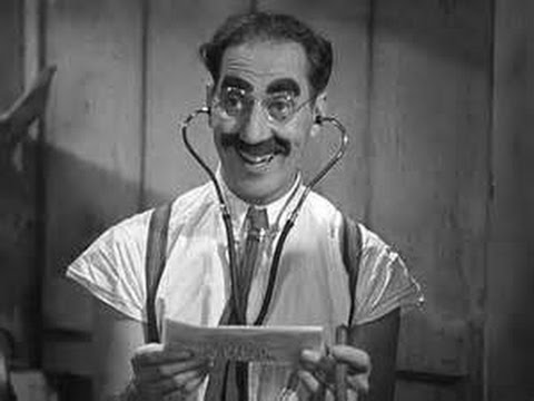Dr. Hackenbush song lyrics - from A Day at the Races (almost) In the Marx Brothers movie, A Day at the Races, there was originally a song that echoed Hurray for Captain Spaulding entitled Dr. Hackenbush. However, it was decided that something needed to be cut and Groucho volunteered this song. Years later, Groucho regretted this decision and often sung the song at gatherings.