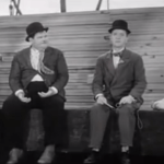 The Laurel and Hardy Murder Case - fishing on the dock