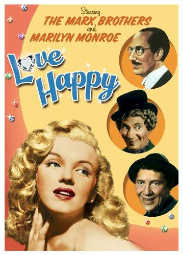 Love Happy starring the Marx Brothers (Groucho, Chico, Harpo), Vera-Ellen and Marilyn Monroe