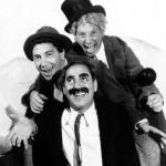 The Marx Brothers pose for a publicity photo in A Night at the Opera